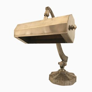 Art Deco French Bronze Desk Lamp, 1930s