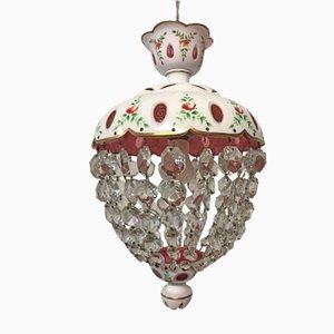 Lampada a sospensione vintage veneziana in vetro di Murano