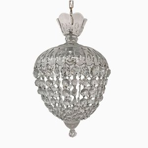 Italian Vintage Murano Glass Crystal Light Pendant