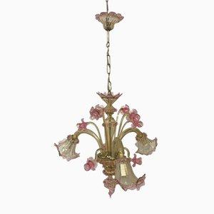 Lampadario veneziano in vetro di Murano, anni '70