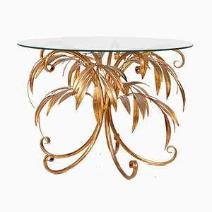 Mid-Century Gold Palm Tree Coffee Table by Hans Kögl, 1960s