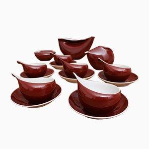 INA Porcelain Coffee Set by Lubomir Tomaszewski for Ćmielów, 1962