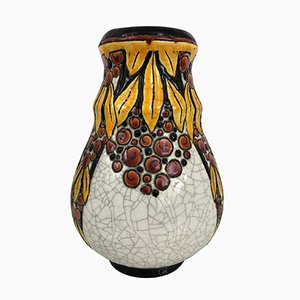 Art Deco Belgian Vase by Charles Catteau for B.F.K. La Louvière, 1930s