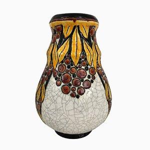 Belgische Art Deco Vase von Charles Catteau für B.F.K. La Louvière, 1930er