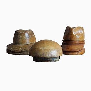 Bases con formas para sombreros vintage. Juego de 3