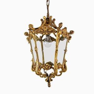 Lampada da soffitto antica in bronzo