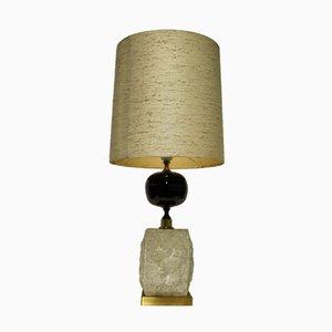 Lámpara de mesa vintage de latón de Maison Barbier, años 70