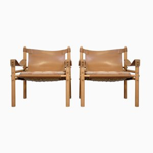 Sirocco Safari Chairs by Arne Norell for Aneby Mobler, 1960s