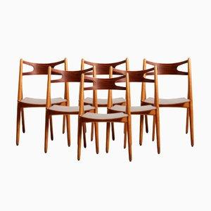 Vintage CH29 Sawbuck Stühle von Hans Wegner für Carl Hansen & Søn, 6er Set