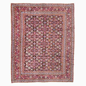 Antiker floraler indischer Agra Teppich