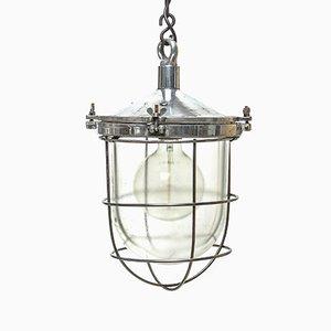 Lámpara de araña con de globo de vidrio, años 50