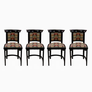 Antique Cabaret Fledermaus Chairs by Josef Hoffmann for Jacob & Josef Kohn, Set of 4