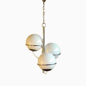 Lámpara de araña italiana Era Espacial vintage, años 60
