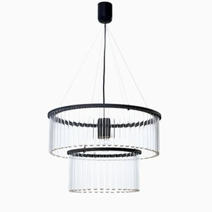 Maria SC Double Black Chandelier by Pani Jurek for Gang Design, 2017
