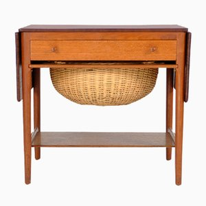 Vintage Sewing Table by Hans J. Wegner for Andreas Tuck