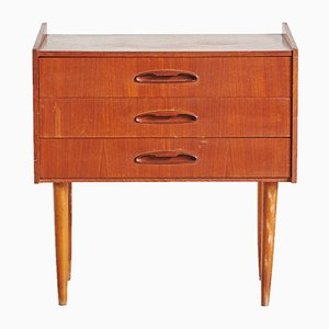Danish Mid-Century Three-Drawer Teak Night Stand, 1960s
