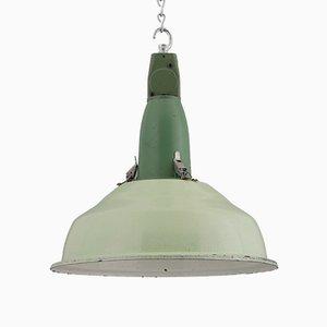 Lámpara colgante de fábrica industrial, años 50
