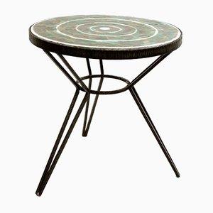 Mesa de centro con tablero de cerámica, años 70
