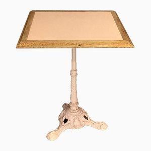 Table Bistro Vintage avec Base en Fonte