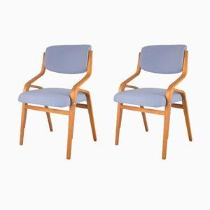 Tschechoslowakische Armlehnstühle, 1960er, 2er Set