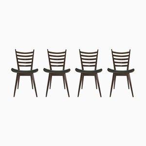 Modernistische Esszimmerstühle von Cees Braakman für Pastoe, 1950er, 4er Set
