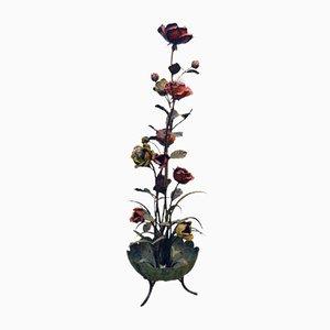 Lampada da terra scultorea con rose, anni '60