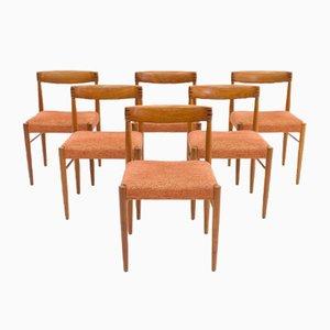 Sedie da pranzo vintag in teak di H. W. Klein per Bramin, Danimarca, set di 6