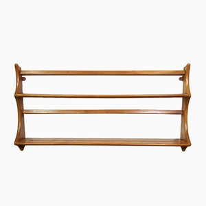 Vintage Elm Open Plate Rack by Lucian Ercolani for Ercol
