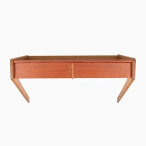 Danish Wall Console in Teak & Oak from Ørum, 1950s