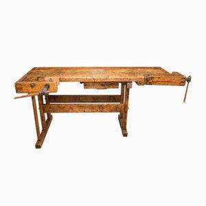 European Oak Carpenters' Workbench, 1920s