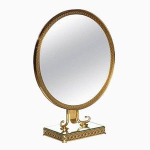 Neo-Classical Brass Vanity Mirror, 1950s