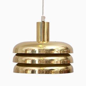 Lámpara colgante de latón de Hans-Agne Jakobsson para Hans-Agne Jakobsson AB Markaryd, años 60