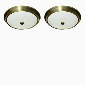 Flush Mount Lamps from Lumi, 1950s, Set of 2