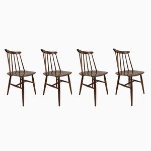 Fanett Stühle von Ilmari Tapiovaara für Edsby Verken, 1962, 4er Set
