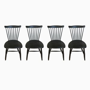 Scandinavian Haga 210 Chairs by Sven Erik Fryklund for Hagafors, 1950s, Set of 4