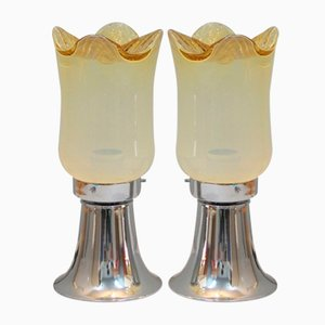 Italian Murano Table Lamps, 1960s, Set of 2