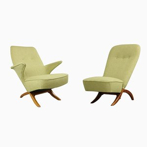 Penguin & Congo Lounge chairs by Theo Ruth for Artifort, 1950s, Set of 2