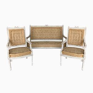 Antique Gustavian Lounge Set, 1900s