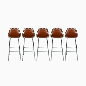 Les Arcs Bar Stools by Charlotte Perriand, 1960s, Set of 5