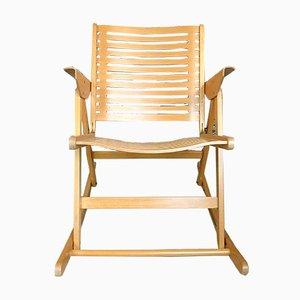Rex Folding Rocking Chair by Niko Kralj for Impakta Les, 1952