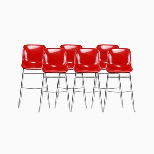 Spirit Bar Stools by Hajime Oonishi for Artifort, 1997, Set of 6