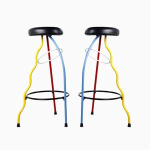 Duplex Bar Stools by Javier Mariscal, 1980s, Set of 2