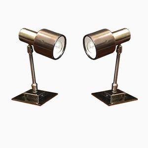 Lampe de Bureau en Métal, 1970s, Set de 2