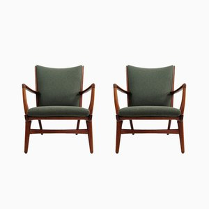 Model AP16 Lounge Chairs by Hans J. Wegner for A.P. Stolen, 1950s, Set of 2