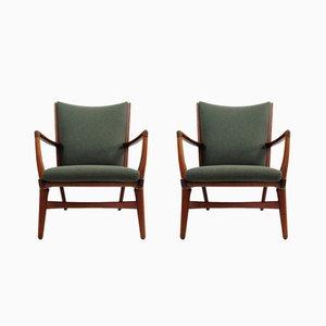 Modell AP16 Sessel von Hans J. Wegner für A.P. Stolen, 1950er, 2er Set
