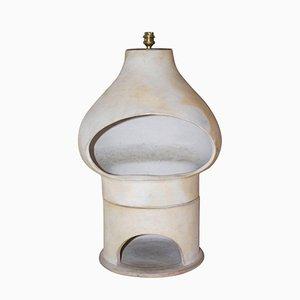 Lámpara de mesa francesa de cerámica, años 70