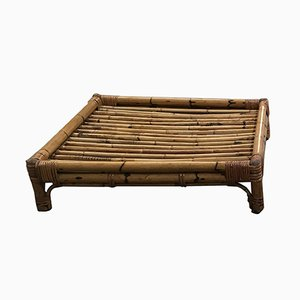 Mesa de centro italiana de bambú, años 70