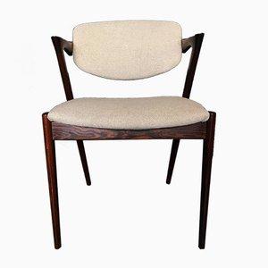 Modell 42 Esszimmerstühle von Kai Kristiansen für Schou Andersen, 1960er, 10er Set