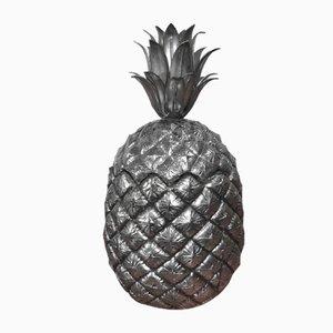 Secchiello per il ghiaccio a forma di ananas in argento di Mauro Manetti, anni '60