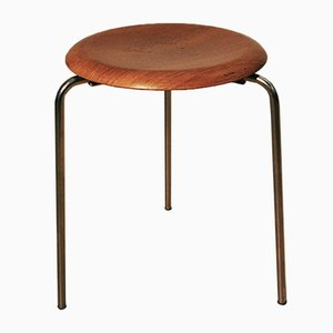 Vintage 3-Legged Model 3170 Stool by Arne Jacobsen for Fritz Hansen